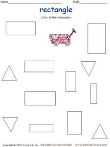 Coloring Rectangles Worksheet