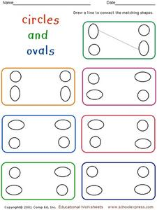Circles and Ovals Worksheet