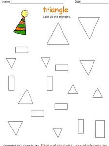 Triangle Coloring Worksheet