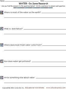Water - Do Some Research Worksheet