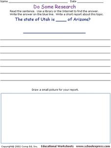 Do Some Research: US Geography Worksheet