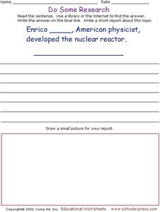 Do Some Research: American Physicist Worksheet