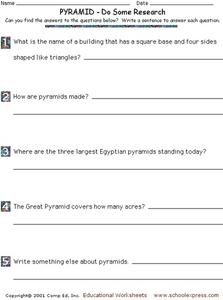 Do Some Research: Pyramids Worksheet