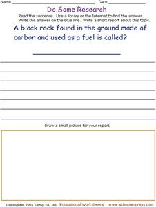 Do Some Research: Coal Worksheet