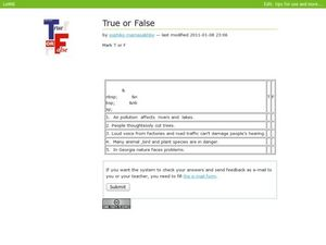 True or False ??? Worksheet