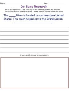Do Some Research: The Colorado River Worksheet
