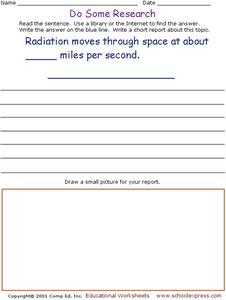 Do Some Research - Radiation Worksheet