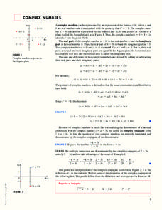 Complex Numbers Handouts & Reference