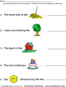 Word Recognition #2 Worksheet