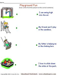 Playground Fun Worksheet