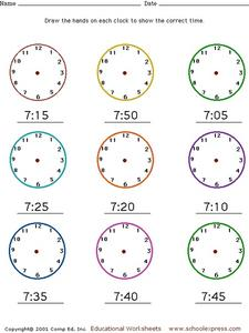 Draw the Time #4 Worksheet