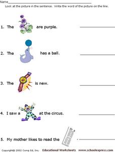 Word Recognition #6 Worksheet