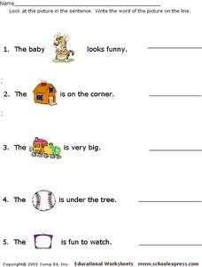Name the Picture Worksheet