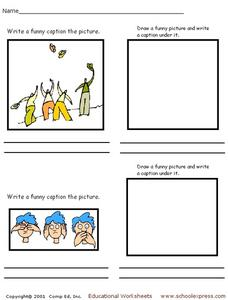 Writing Picture Captions Worksheet