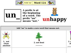 Prefix: Un Worksheet