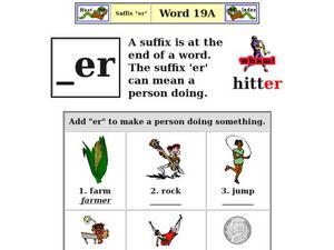 Suffix: er Worksheet