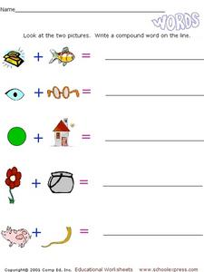 Compound Words: Pictures #2 Worksheet