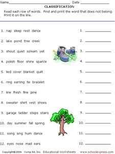 Classification #3 Worksheet