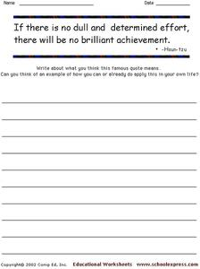 Famous Quotes 6 Worksheet