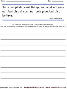 Famous Quotes 93 Worksheet