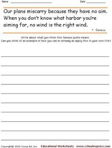 Famous Quotes 40 Worksheet