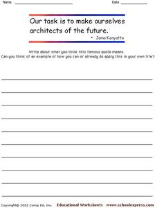 Famous Quotes 70 Worksheet