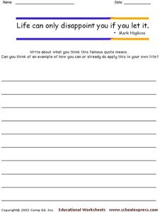Famous Quotes 118 Worksheet