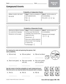 Compound Events Worksheet