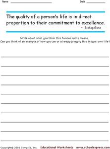Famous Quotes 139 Worksheet