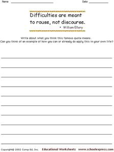 Famous Quotes 156 Worksheet