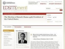 The Election of Barack Obama 44th President of the United States Lesson Plan