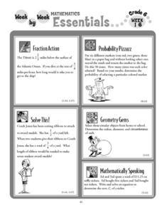 Week by Week Mathematics Essentials Week 16 Lesson Plan