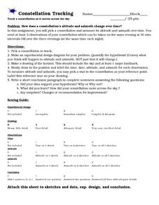 Constellation Tracking Worksheet