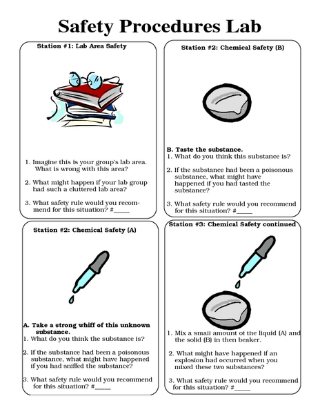 Safety Procedures Lab Worksheet