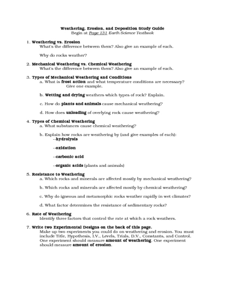 Mechanical Weathering Lesson Plans Worksheets Lesson Planet