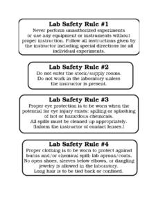 Lab Safety Rules Worksheet