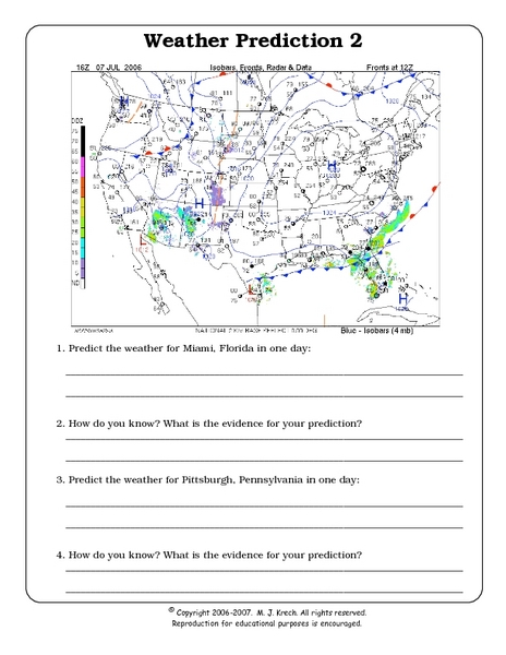 weather prediction 2 worksheet for 7th 9th grade lesson planet. Black Bedroom Furniture Sets. Home Design Ideas