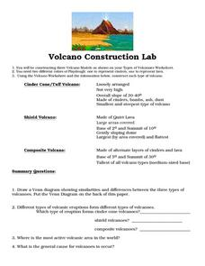 Volcano Construction Lab Worksheet