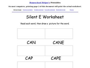Silent E Worksheet Worksheet