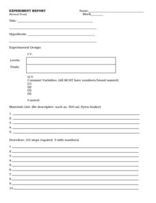Experiment Report (Normal Form) Worksheet