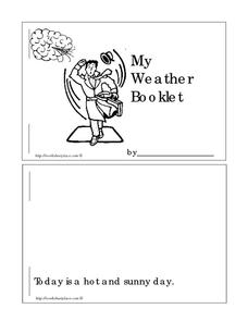 My Weather Booklet Worksheet
