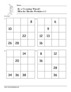 Be a Counting Wizard! Math Game Worksheet