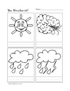 The Weather Is? Worksheet