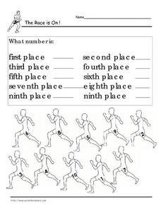 The Race is On! Worksheet