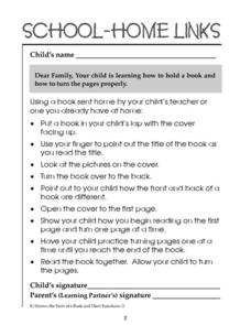 School-Home Links: Books 2 Worksheet