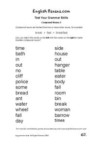 Compound Nouns 2 Worksheet