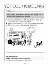Learning Language: School-Home Links Worksheet