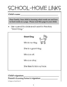 School-Home Links: 9 Worksheet