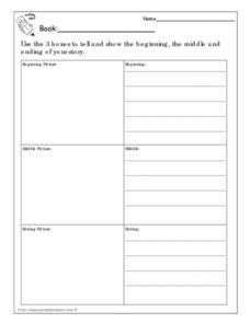 Book Report: Chronological Order Worksheet