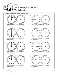 Time Passages: Hours Worksheet 4 Worksheet